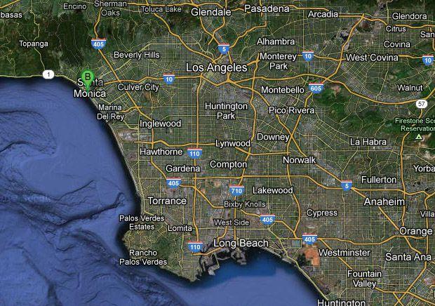 Map of Santa Monica Pier