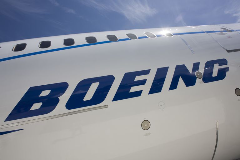 England - Farnborough - Boeing logo