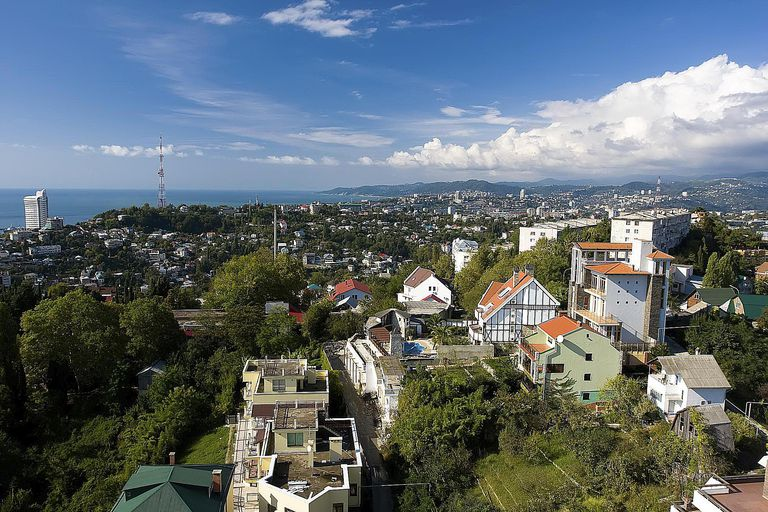 View of a Sochi from arboretum's oservatio...