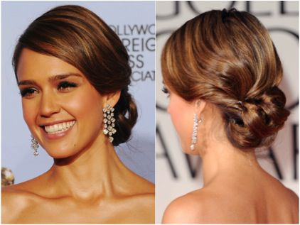 Wedding hairstyles updos inspired by the red carpet jessica alba pmusecretfo Image collections