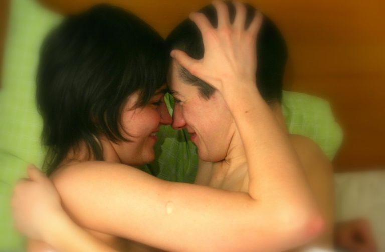 CC license at https://commons.wikimedia.org/wiki/File:Lesbian_Couple_love_in_bed_02.jpg