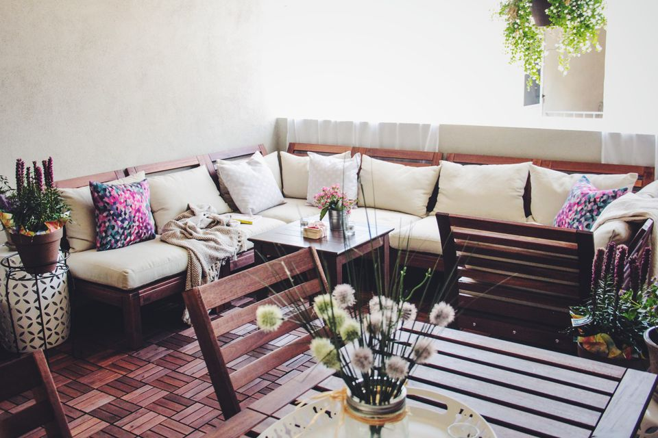 Patio in the summertime