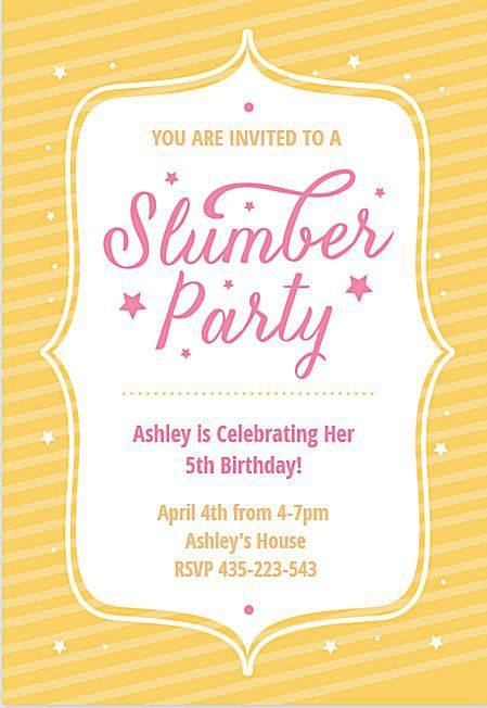15 Free Printable Sleepover Invitations Shell Love