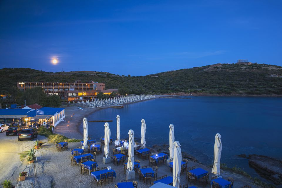 Aegeon Beach Hotel and Temple of Poseidon