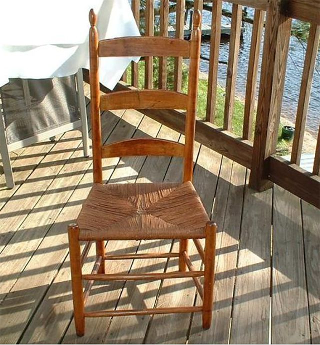 Side chair from the Watervliet, N.Y. Shaker Community circa 1840-1850. Back  legs - Styles Of Antique Side Chairs