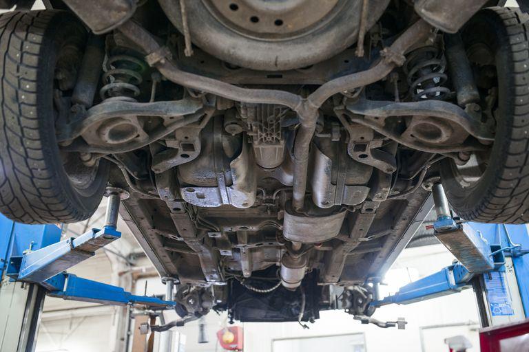 muffler under car