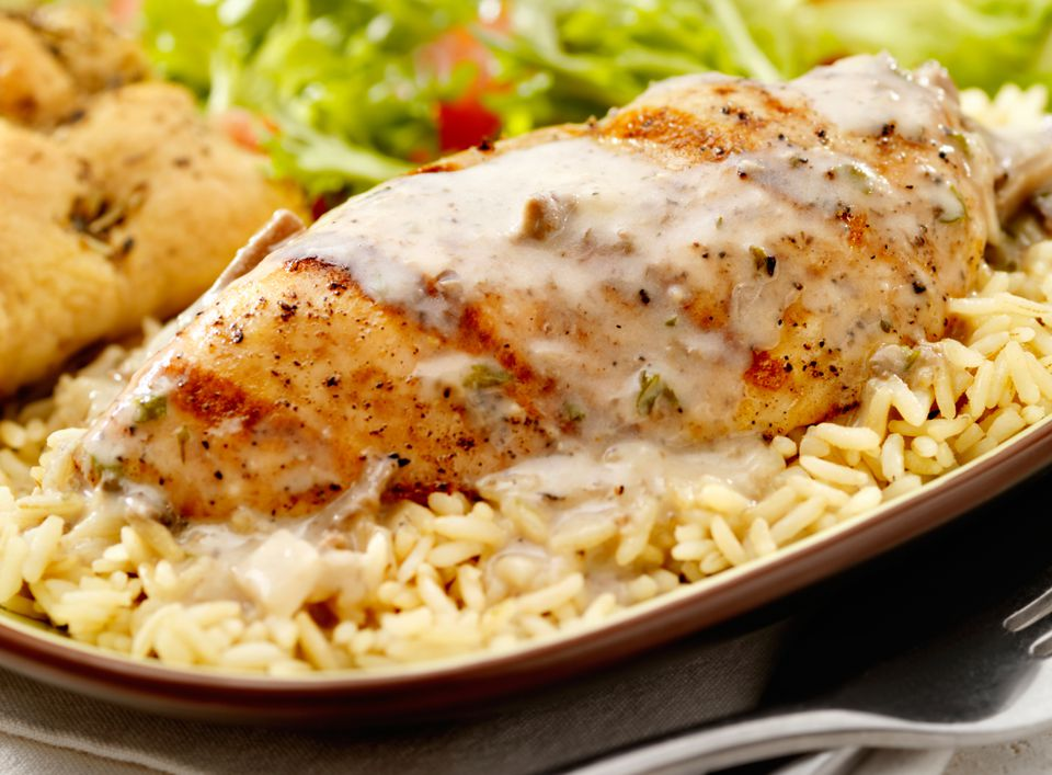 easy chicken and rice bake with italian dressing