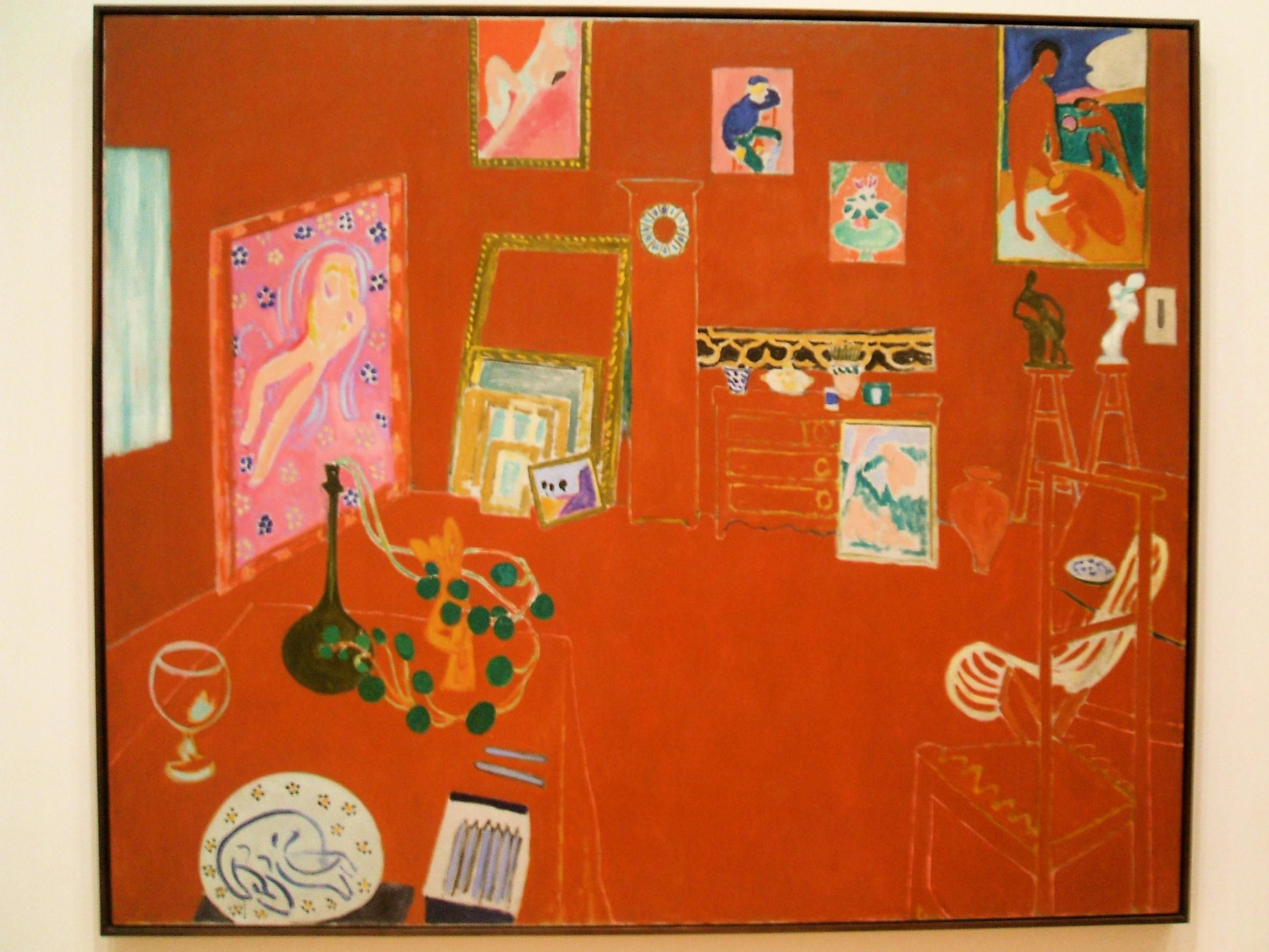 Famous Paintings Matisse Red Studio