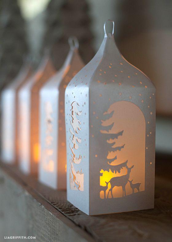 DIY Winter Paper Lanterns