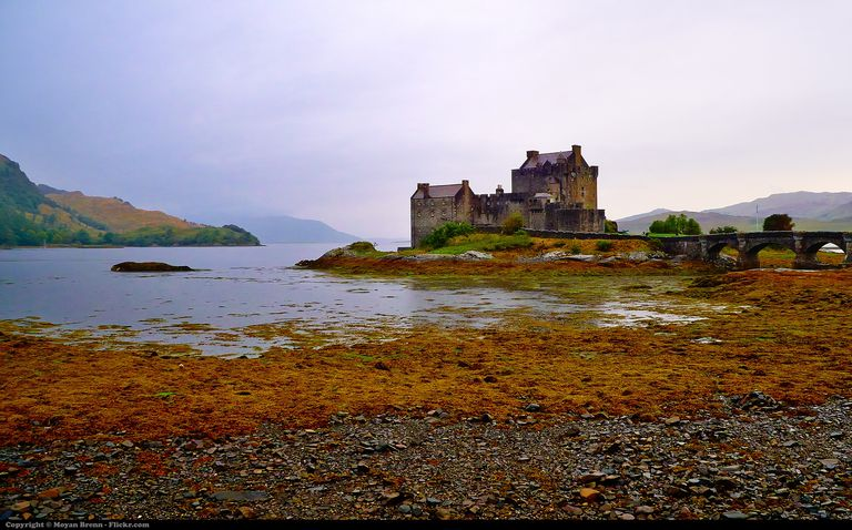 Medieval Scotish castle near Isle of Skye called Eilean Donan