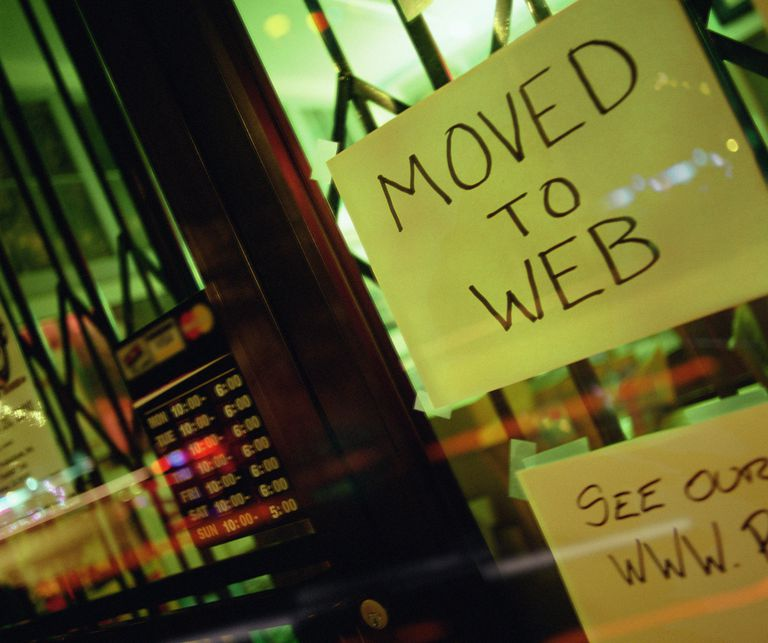 Moved to web sign on store door