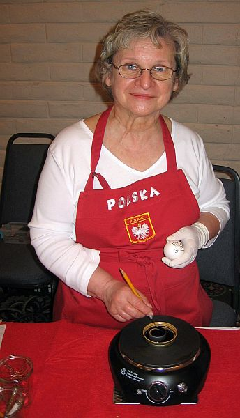 Theresa Child of Valparaiso, Ind., Making Polish Pisanki