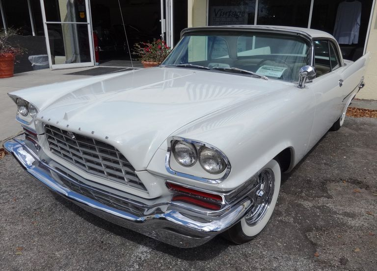 Pearl White 1957 Chrysler 300C Hardtop
