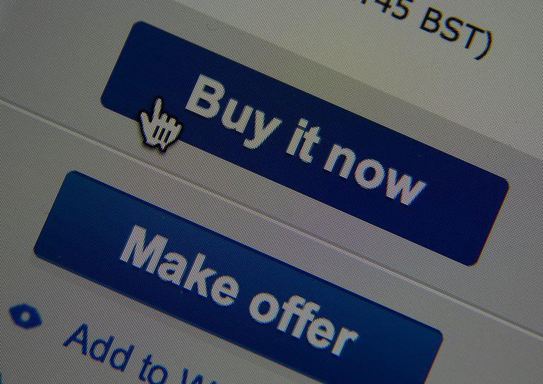 eBay online auction bidding