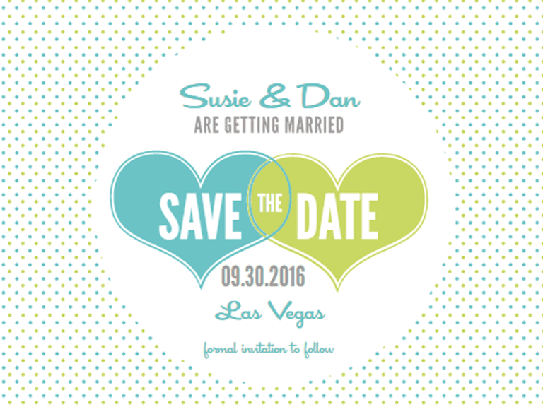 Free printable save the date templates youll love hearts and polka dots free printable save the date template from wedding chicks pronofoot35fo Images