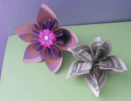 Origami beginner projects 7 steps to a pretty money origami kusudama flower mightylinksfo Choice Image