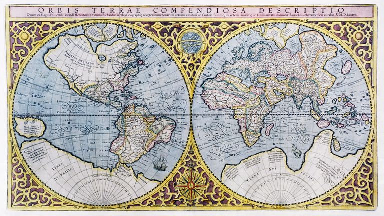 How Maps Can Deceive Us - All maps of the world