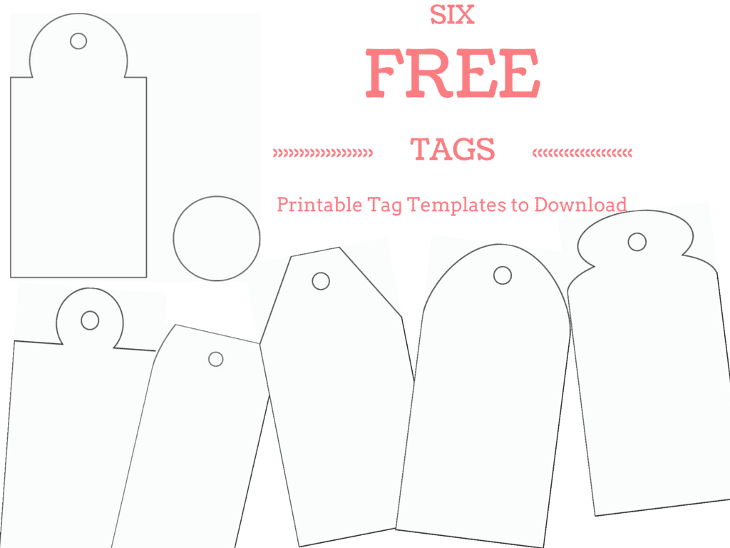 Enterprising image pertaining to free printable favor tags