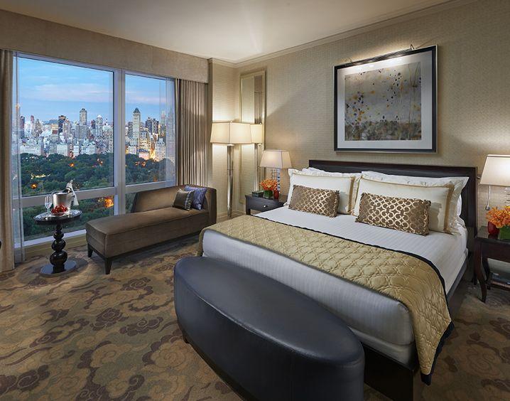 Central Park view room at Mandarin oriental