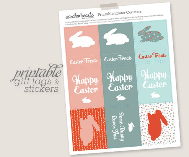 17 free easter printables for your home and kids printable easter gift tags by sarah hearts negle Choice Image