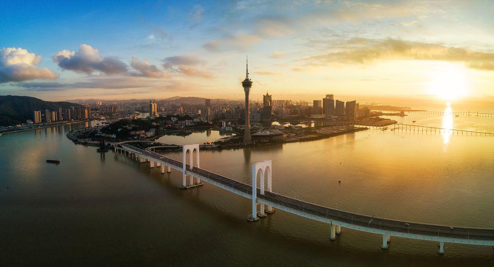 Macau skyline in the morning