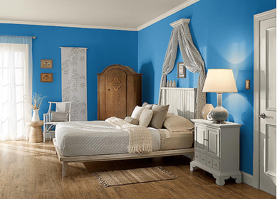 The 10 best blue paint colors for the bedroom for Blue bedroom colors