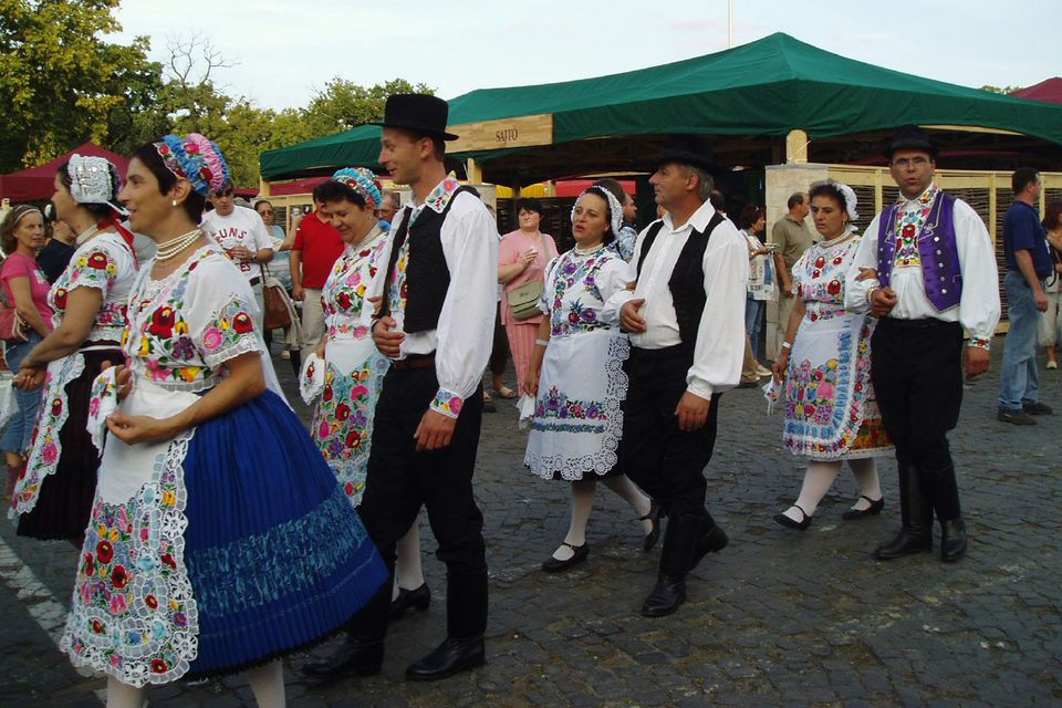 Men's and Women's Hungarian Folk Costumes