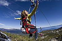 zipline at Lake Tahoe