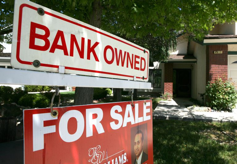 A bank owned for sale sign
