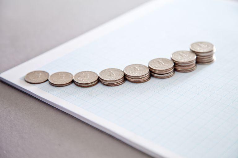 increasing stacks of dimes