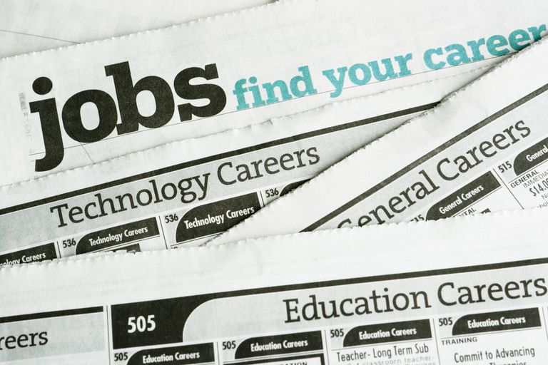 job posting section of newspaper