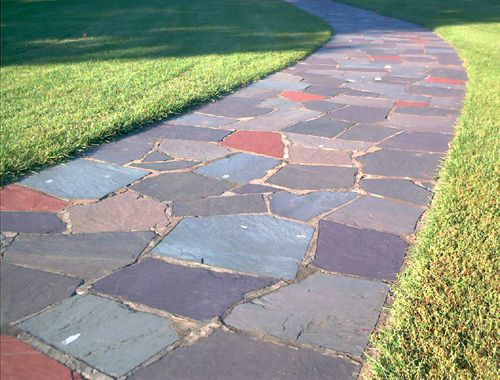 Picture of a flagstone walkway.