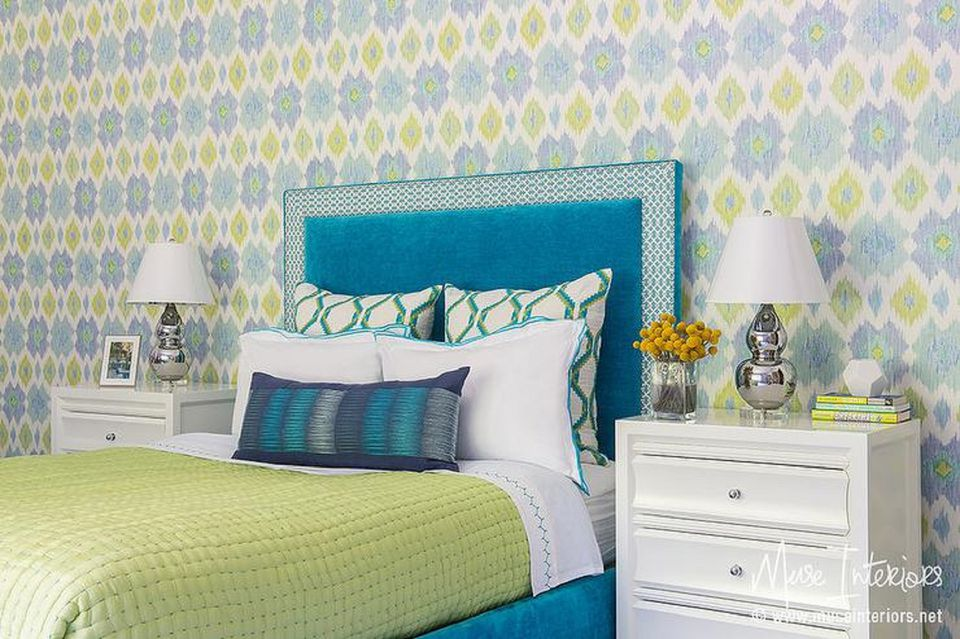 turquoise bedroom. Blue and lime bedroom 25 Stunning Bedroom Ideas