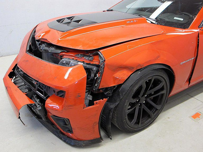 2012 Chevrolet Camaro ZL1 crash damage