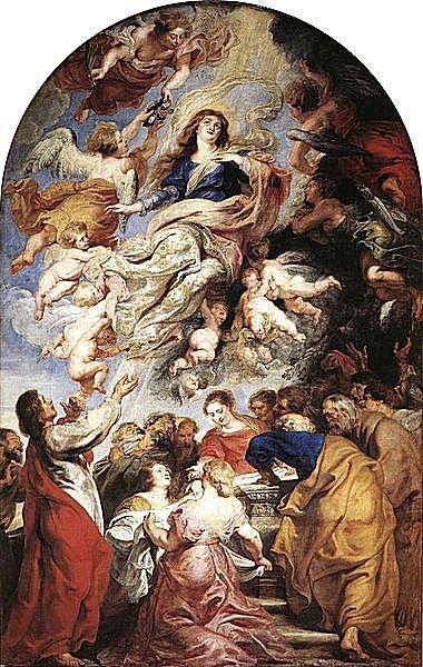 Asunción de la Virgen por Pedro Pablo Rubens