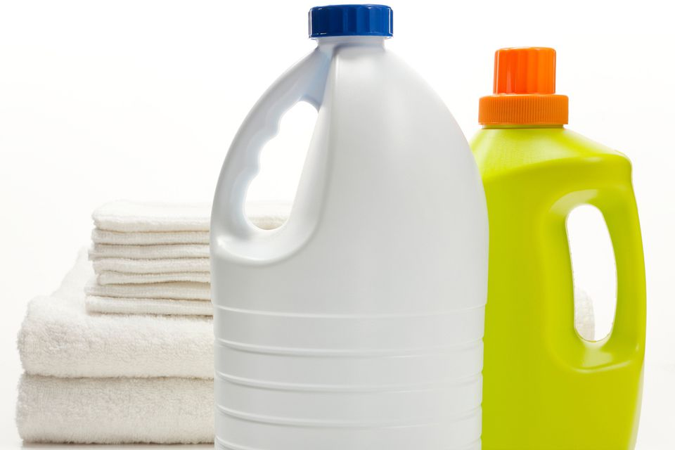 Bleach and laundry detergent