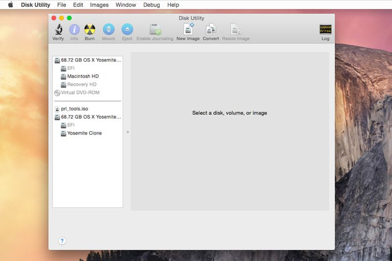 Disk Utility ready to use