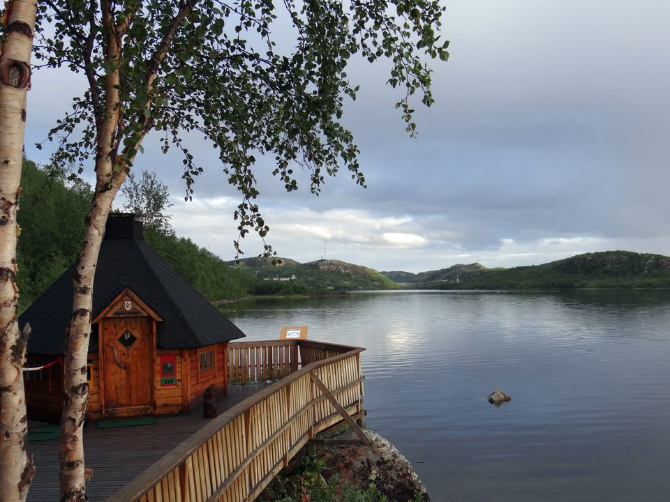 At the border of Russia and Norway near Kirkenes, Norway