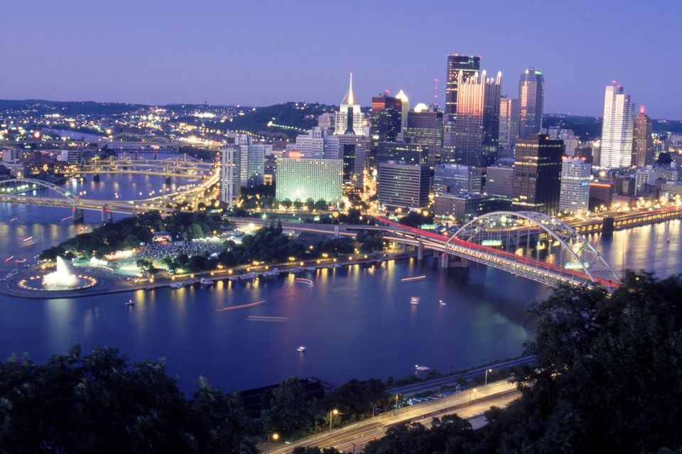 Pittsburgh in the evening