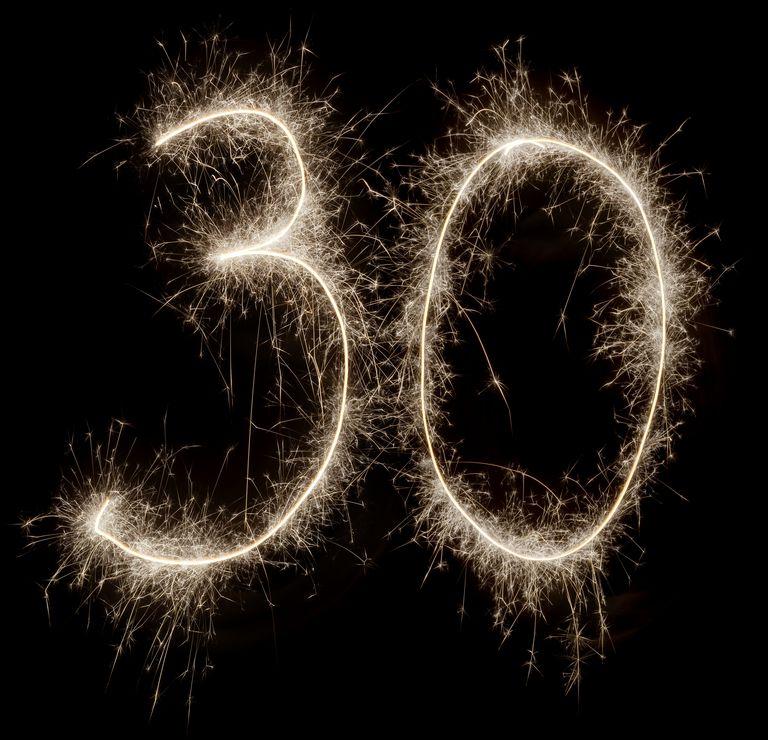 Sparkling celebration number 30