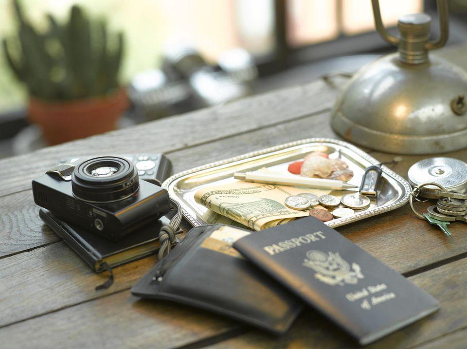 U.S. Passport on table