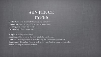 summary of complex sentences A complex sentence has an independent clause which is joined to adependent clause an example of this is mary went to the storebefore she made dinner well it is simple because a complex.