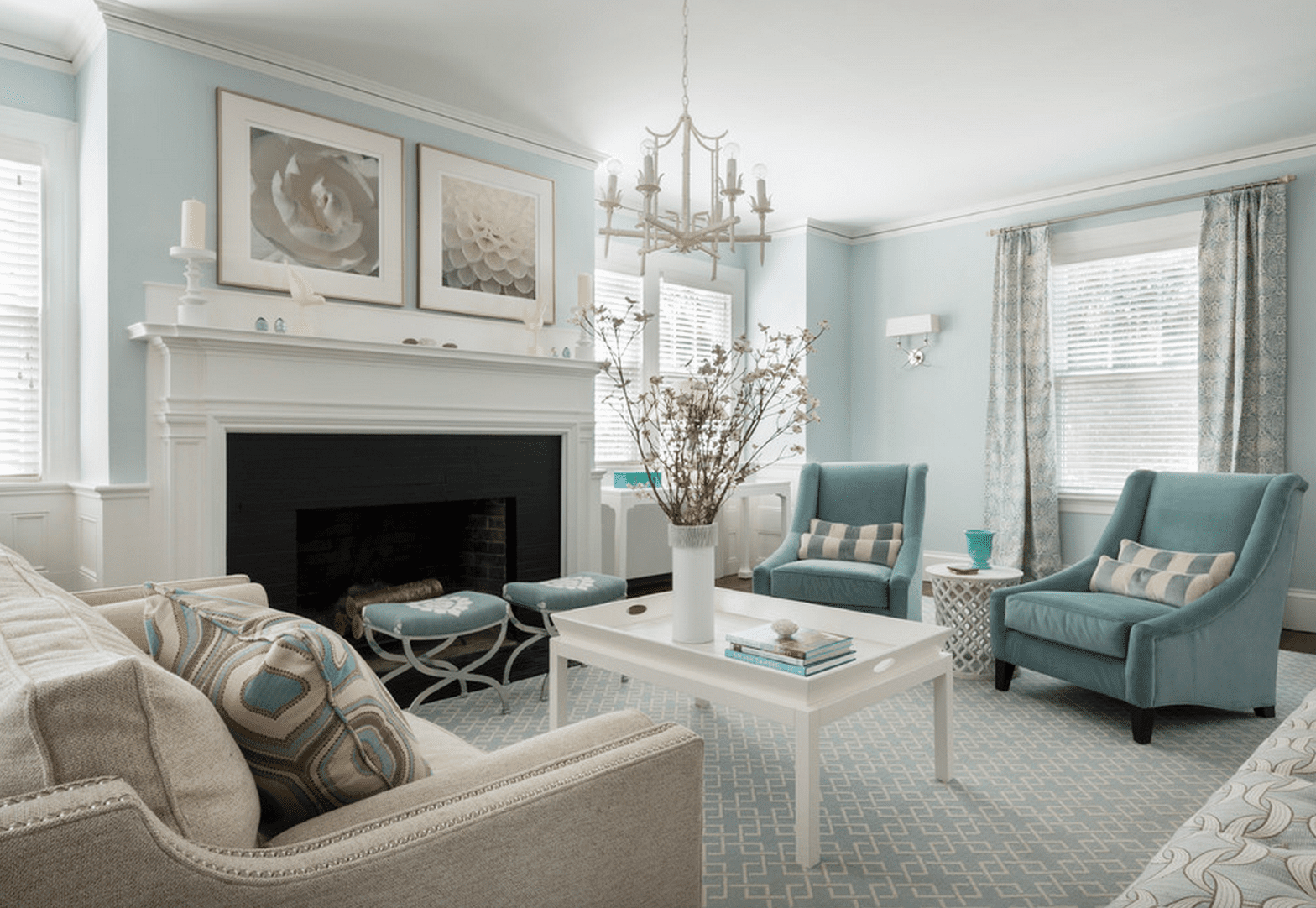 Light Blue And Green Living Room blue living room ideas