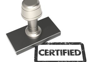 Certification is like a stamp of approval