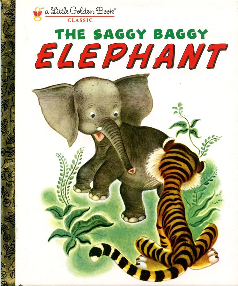 THe Saggy Baggy Elephant - Little Golden Book Cover