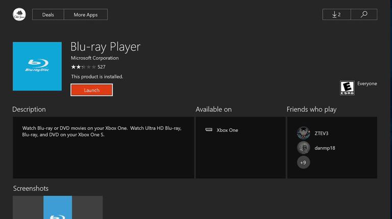 Xbox One Blu-ray Player App