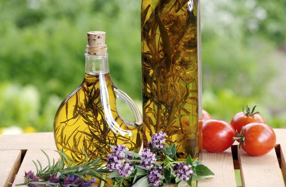 Herb vinegars, Sage Farm B & B, Rock Creek, British Columbia, Canada, garden
