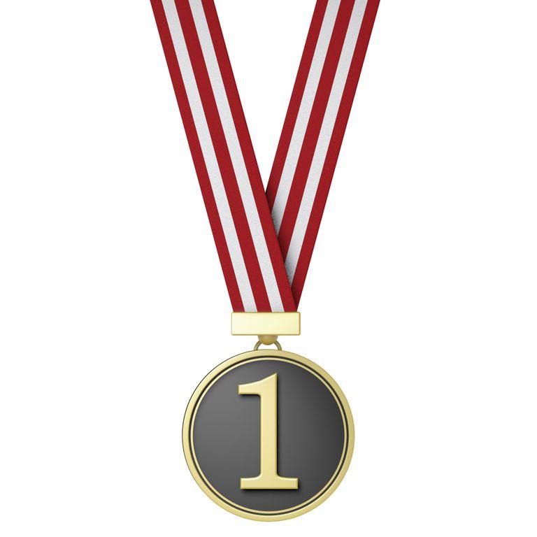 number 1 medal