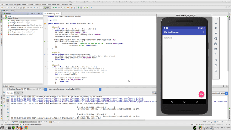 Android Studio Running
