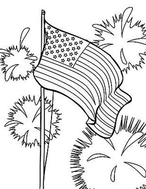 sheknows 4th of july coloring pages - Free Printable 4th Of July Coloring Pages